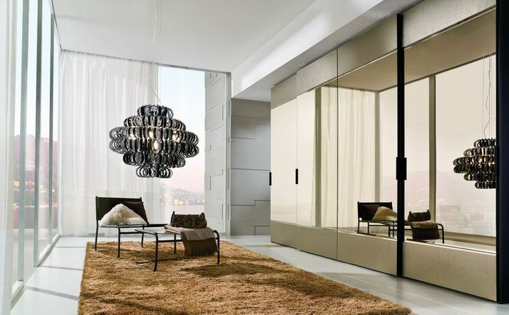 LA FALEGNAMI - Sliding door - Ice bronzed mirror mix
