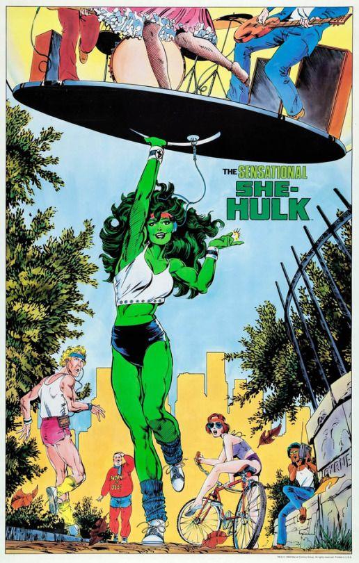 John Byrne and Terry Austin She-Hulk 1991.