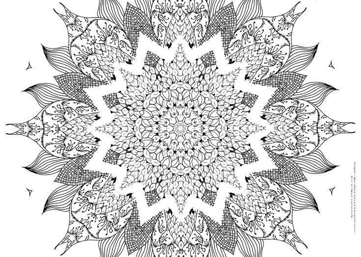 Mandala Coloring Pages Hard Coloring Pages