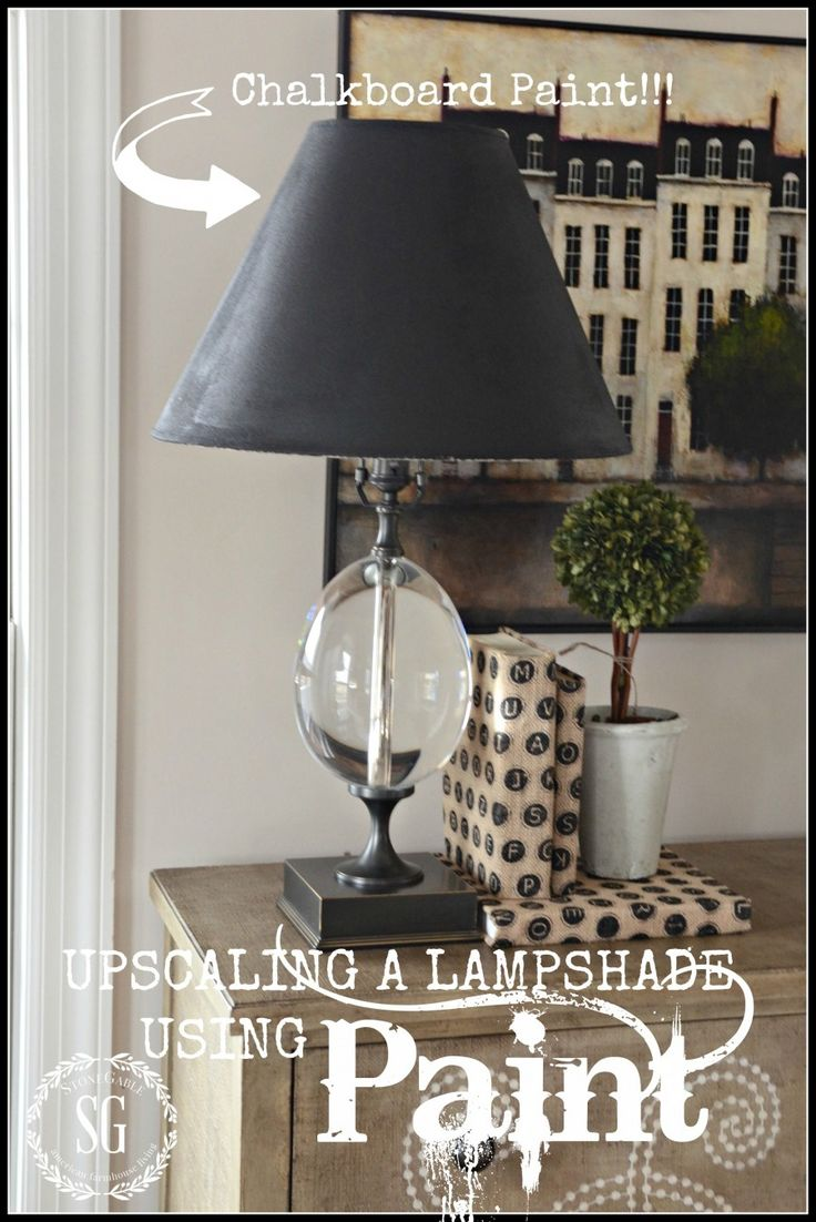 66 best lamps and shades images on pinterest lighting ideas diy upcycling a lamp shade using paint