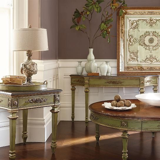 Neoclassic Accent Tray Table