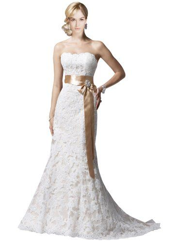 This might be the one....Maillsa Mermaid Lace Wedding Dress with Beadings and Sash (US 2, Ivory) Maillsa http://www.amazon.com/dp/B00KOP1PL4/ref=cm_sw_r_pi_dp_62ORub174FKND