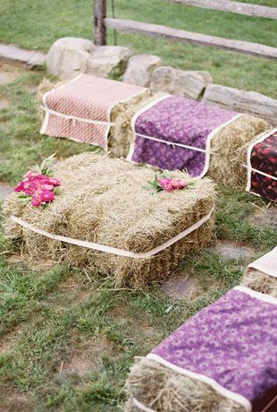 Festival Style Wedding Seating