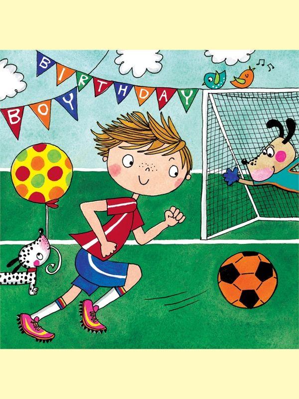 Football Jigsaw Birthday Card