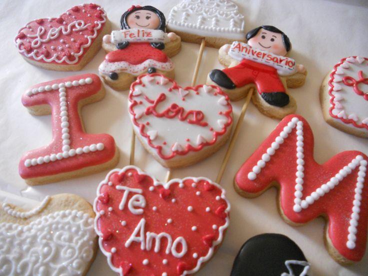 Regalo Para Aniversario De Boda Love Cookies Pinterest