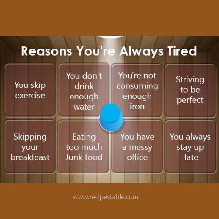 8 Reasons you're Always Tired