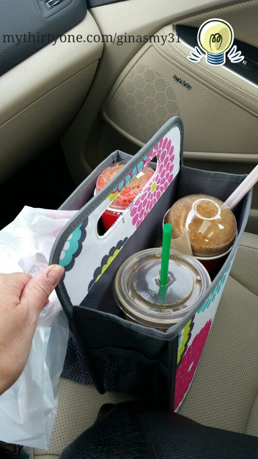 Double Duty Caddy is totally perfect for carrying Icee's, starbucks, and snacks home from a Target run without worry of an in-the-car spill! mythirtyone.com/ginasmy31