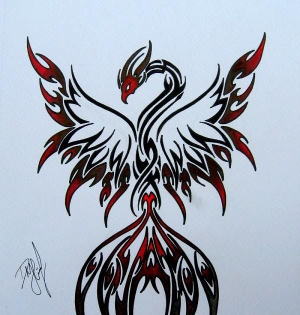 Phoenix tattoo design is a great choice and these designs. If you have decided to decorate yourself with phoenix tattoo .