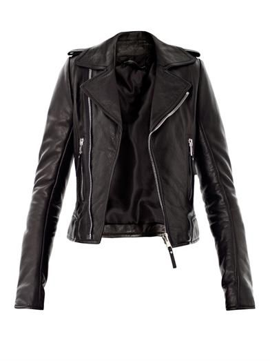 Balenciaga - Classic Leather Biker Jacket - £1535 - This is a bit more authentic than the leather jackets I've posted before but be warned: you've got to have a little attitude of your own to pull it off with great success without looking like a Ramones wannabe.