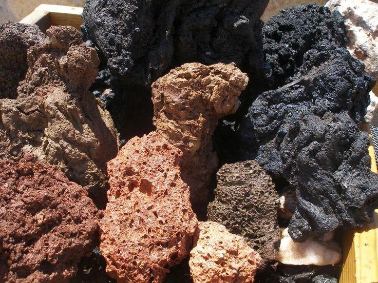 Aquarium lava rocks multi color dragon stone style porous for Lava rock pavers