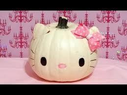hello kitty pumpkin ideas