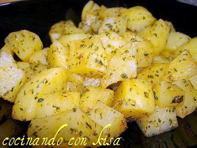 Patatas al ajo en bolsa de asar (fussioncook)