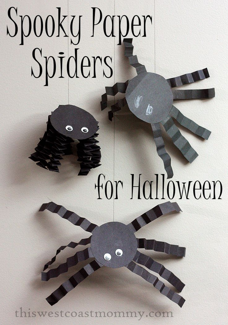 spooky paper spiders