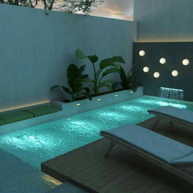 Lighting and Pool idea