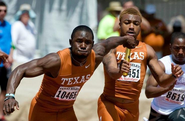ark Jackson and Trevante Rhodes #texas #relays #hornsillustrated    www.hornsillustrated.com