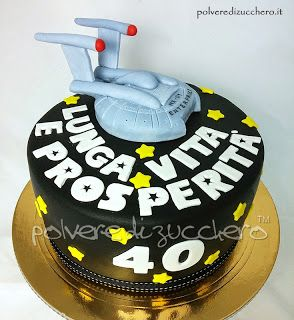 Torta star trek navicella enterprise, Star trek cake enterprise