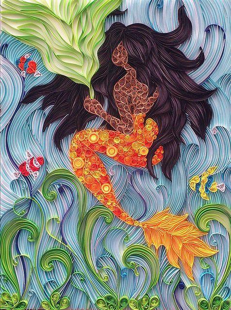 Paper quilling by Ayobola Kekere-Ekun - Under the Sea