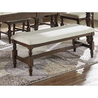 progressive sanctuary brown wood upholstered dining bench free shipping today