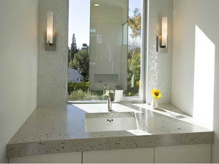 Bathroom Ideas, Modern Bathroom Wall Sconces With Undermount Single Sink  Bathroom Vanity And White Ceramic