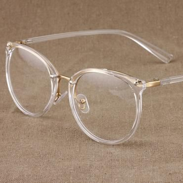 New fashion gold glasses frames men women eyewear vintage transparente eyeglasse…