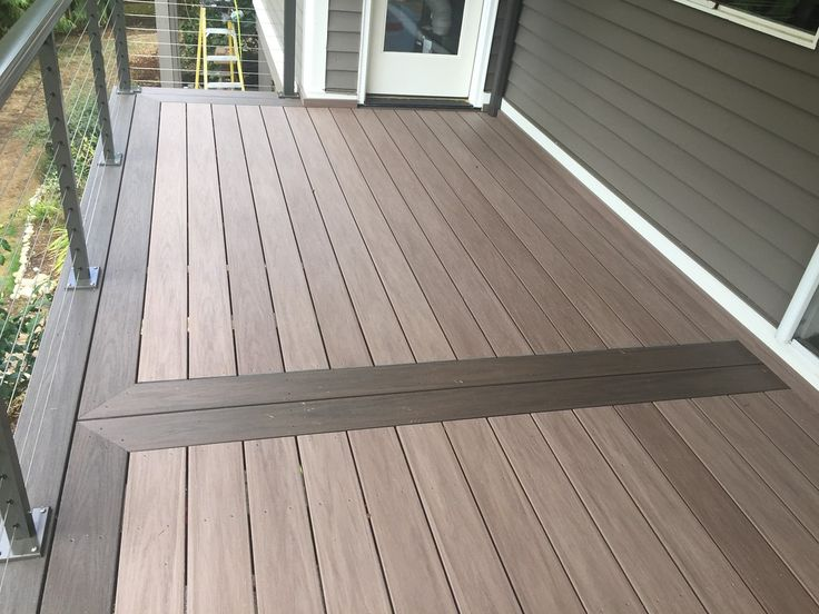 Wolf Pvc Decking In Weathered Ipe With Black Walnut