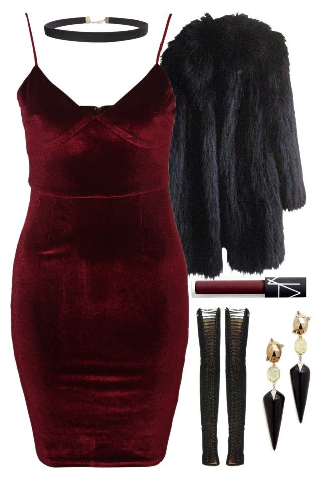 """1.6.17"" by lovely-98 ❤ liked on Polyvore featuring Sonia Rykiel, Glamorous, Humble Chic, Alexis Bittar and NARS Cosmetics"