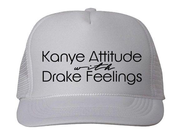 Trucker Hat Kanye & Drake Trucker Hat by trendsettersrepublic