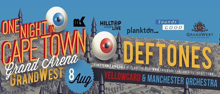 Synopsis of the upcoming gig ft. Deftones,  Yellowcard & Manchester Orchestra dubbed, One Night in Cape Town