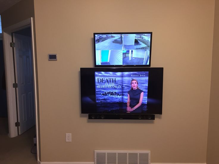 Mounted my TV, sound bar, and security camera monitor on ...