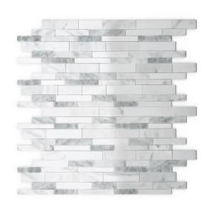 Inoxia SpeedTiles Grey Agathe White and Grey 11.34 in. x 11.61 in. x 5 mm Stone Self Adhesive Wall Tile IS02A3C217013 at The Home Depot - Mobile