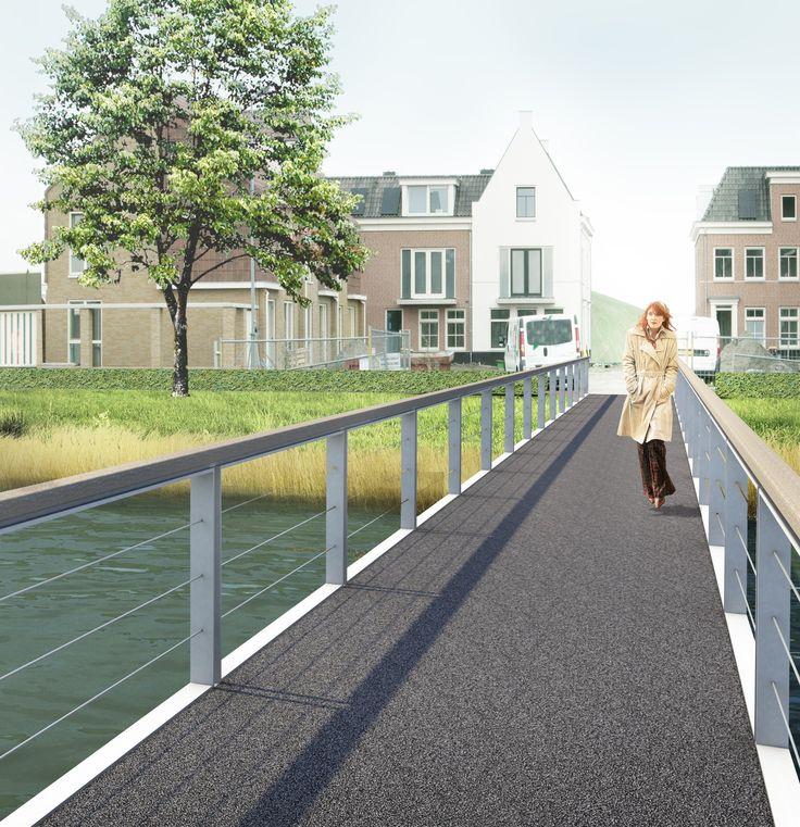 De fietsbrug wordt de entree van een nieuwe wijk, het Vliedpark. Het park is een door water omringd park met aan de centrumzijde woningbouw en aan de polderzijde een activiteitenpark. Een langzaamverkeer-as loopt van de centrumzijde over een entreebrug doorLees verder