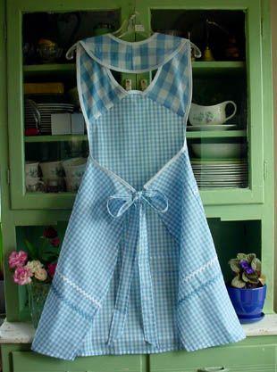 1940 Back blue gingham