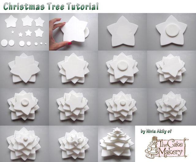 Tree tutorial - by Nivia @ CakesDecor.com - cake decorating website