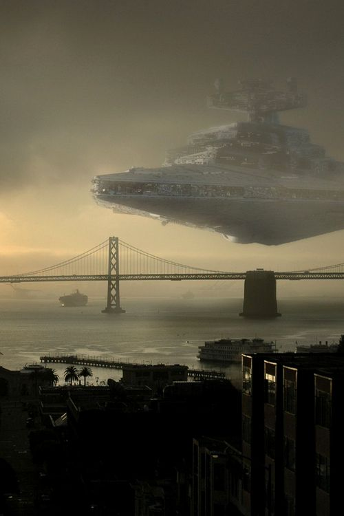 It may not be mass effect, but I couldn't resist! ;-) Star Destroyer Bay Bridge by Mike Horn #starwars
