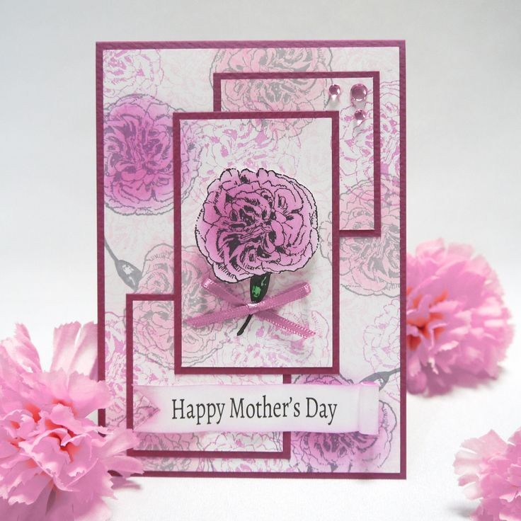 スタンプ1個で作る、母の日の手作りカード講座 by:CardNation #カード
