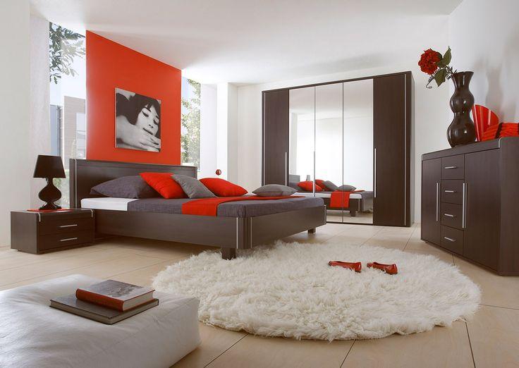 Die dunklen Möbel sehen verrückt in ein Schlafzimmer aus! Nutz die Promotion schon heute! #schlafzimmer #bett #mirjan24 #helvetia #dunklenMöbel  #sale #promotion