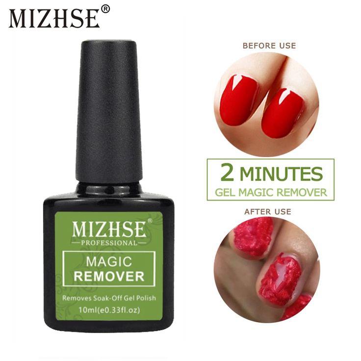 MIZHSE Nail Gel/Polish Remover Magic Remover Healthy Fast Within 2-3 Mins Soak o…