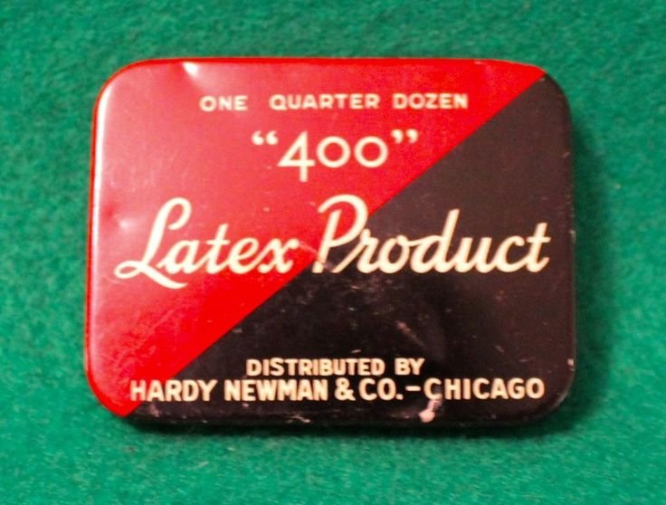 """400"" LATEX PRODUCT CONDOM TIN PROPHYLACTIC"