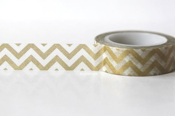 Hey, I found this really awesome Etsy listing at https://www.etsy.com/listing/159395871/gold-chevron-washi-tape-v2-holiday
