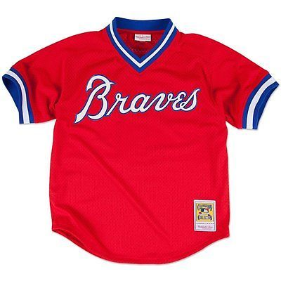 1980 ATLANTA BRAVES Dale Murphy RED Mitchell & Ness BP Jersey L
