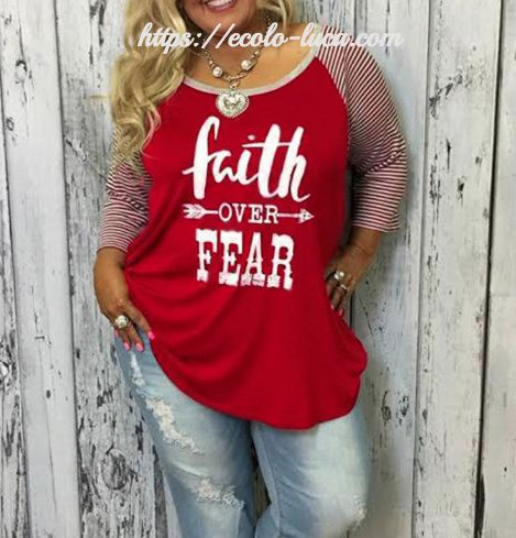 Plus Size Sweater Faith over Fear – Ecolo.luca