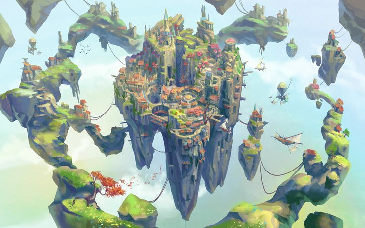 Fantasy Islands, Neil Richards on ArtStation at https://www.artstation.com/artwork/Lr6Rk