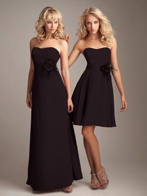 long black bridesmaid dresses: Dresses Wedding, Strapless Chiffon, Wedding Dressses, Cocktails Dresses, Cheap Wedding Dresses, A Line Wedding Dresses, Bridesmaid Gowns, Empire Waist, Chiffon Bridesmaid Dresses