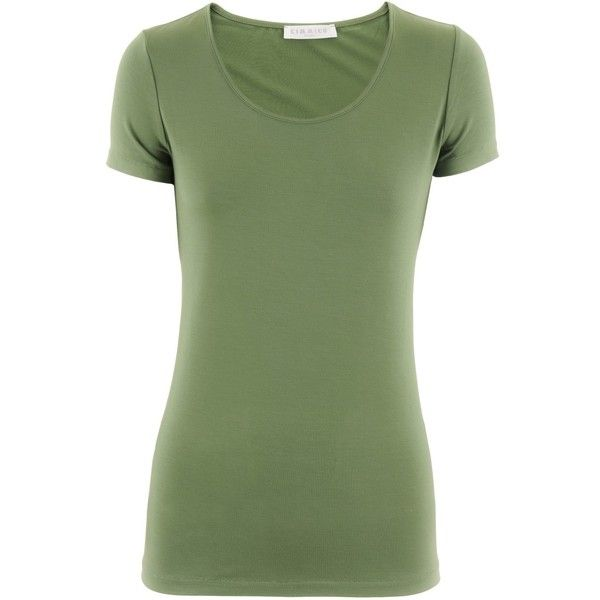 Kimmich Green T-Shirt Olivia ($100) ❤ liked on Polyvore featuring tops, t-shirts, shirts, green, green tee, green shirt, t shirts, tee-shirt and green top