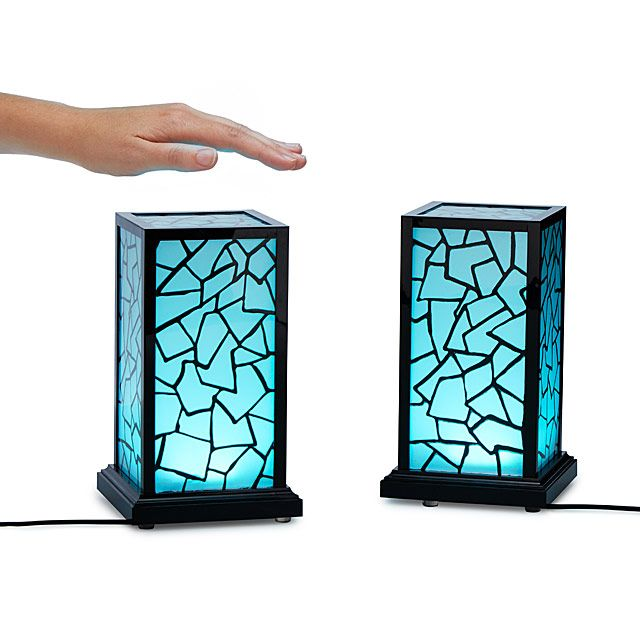 Long Distance Touch Lamp: Long Distance Love.  Light up a loved one's life—from anywhere in the world—with two or more of these in-sync lamps. When you turn one on with a simple touch of your hand, its mate emits the same ambient glow, no matter where it is in the world and who is on the other end: Parent or grandparent, niece or nephew, or long-distance significant other.