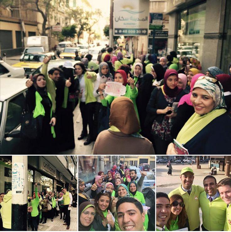Big prospecting yesterday with leader ,sales team region 3 By: Mostafa Kotb