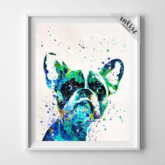 French Bulldog Print, Bulldog Poster, Dog Print, Frenchie Poster, Dorm art, French Bulldog Art, Bulldog Gift, Kids Room Wall, Gift For Him, Wall Art. PRICES FROM $9.95. CLICK PHOTO FOR DETAILS.#inkistprints #watercolor #watercolour #giftforher #homedecor #wallart #walldecor #poster #print #christmas #christmasgift #weddinggift #nurserydecor #mothersdaygift #fathersdaygift #babygift #valentinesdaygift #painting #dorm #decor #livingroom #bedroom
