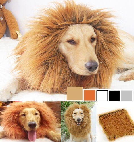 Generic Pet Costume Lion Mane Wig for Dog Christmas Xmas Santa Halloween Clothes Festival Fancy Dress up (Light Brown, L) - http://www.thepuppy.org/generic-pet-costume-lion-mane-wig-for-dog-christmas-xmas-santa-halloween-clothes-festival-fancy-dress-up-light-brown-l/