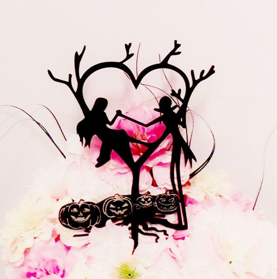 Jack and Sally Wedding Cake Topper by YourPersonalEngraver on Etsy, $56.00 So far, this is my favorite