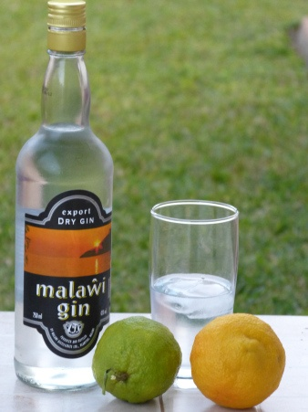 Malawi Gin - made by Malawi Distilleries. Drank too much of this!